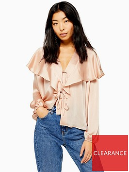 topshop-plain-bed-jacket-blouse-nude