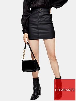 topshop-coated-joni-mini-skirt-black
