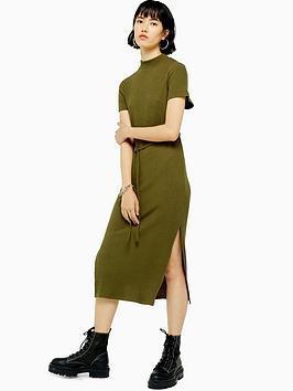 topshop-chuck-on-cut-and-sew-midi-dress-khaki