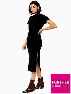 topshop-topshop-chuck-on-cut-and-sew-midi-dress-black