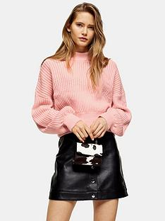 topshop-topshop-pointelle-balloon-sleeve-jumper-pink