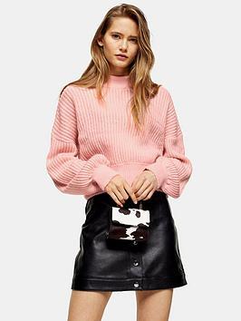 topshop-topshop-pointelle-balloon-sleeve-jumper-pink