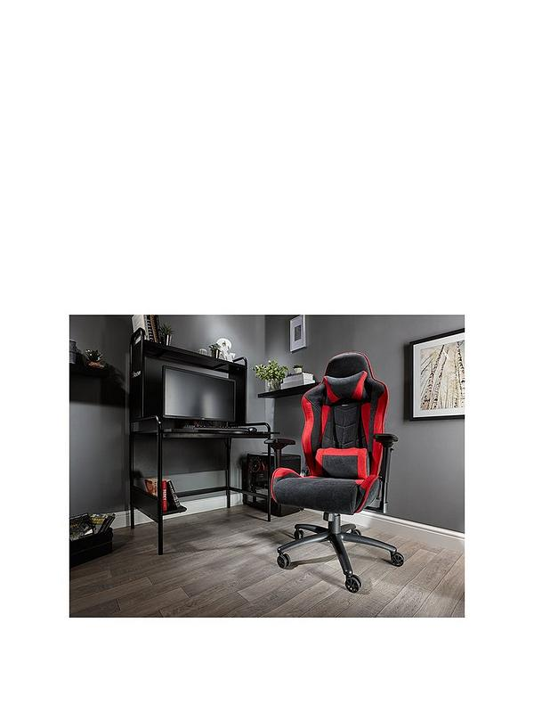 Sensational Siena Pc Office Gaming Chair Red Black Fabric Uwap Interior Chair Design Uwaporg