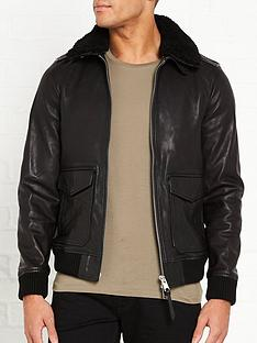 allsaints-phoenix-detachable-shearlingnbspcollar-aviator-jacket-black