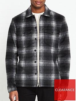 allsaints-tuleta-fleece-lined-check-long-sleeve-over-shirt-grey