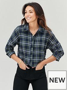 michelle-keegan-oversized-check-boyfriend-shirt