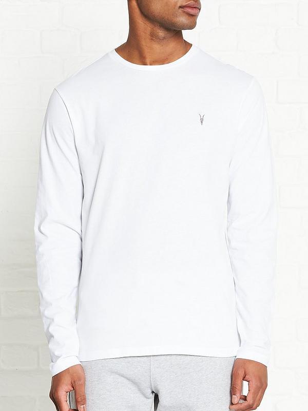 Brace Long Sleeve Tonic T shirt White