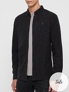 allsaints-altmar-subtle-fleck-long-sleeve-shirt-black