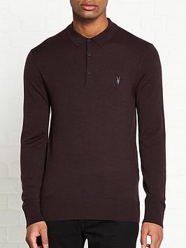 allsaints-mode-merino-long-sleeve-knitted-polo-shirt-burgundynbsp