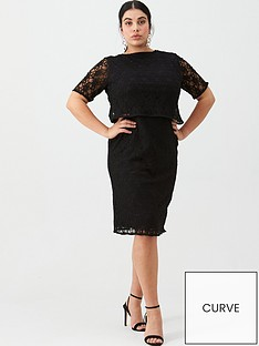 v-by-very-curve-double-layer-lace-dress-black