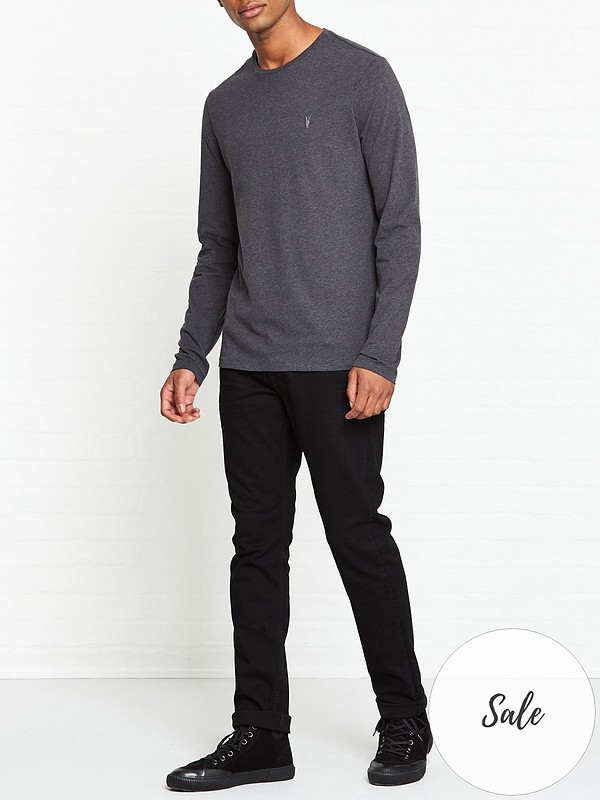 Brace Long Sleeve Tonic T shirt Charcoal