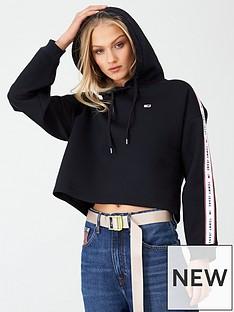 tommy-jeans-taped-hoodie-black