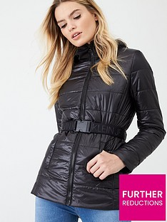 calvin-klein-jeans-belted-jacket-with-scuba-hood-black