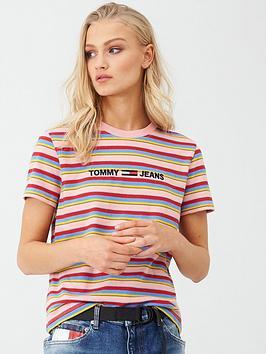 tommy-jeans-linear-logo-stripe-t--shirt-multi