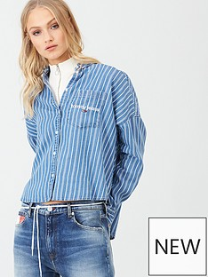 tommy-jeans-cropped-boxy-stripe-shirt-blue-stripe