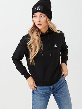 calvin-klein-jeans-embroidered-hoodie-black