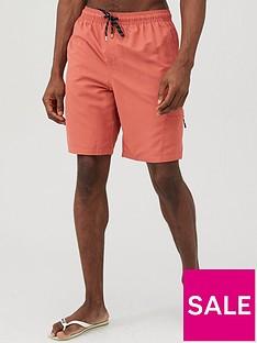 very-man-basic-longer-length-swimshorts-coral