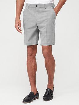 v-by-very-check-suit-shorts-grey