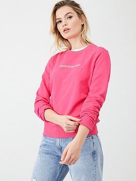 calvin-klein-jeans-institutional-crew-neck-sweatshirt-raspberry