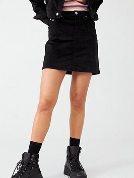 tommy-jeans-short-velvet-skirt-black
