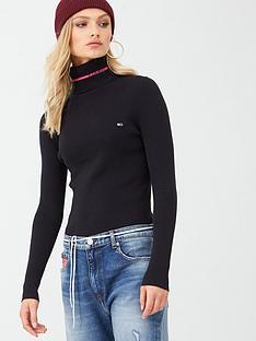 tommy-jeans-logo-turtleneck-sweater-black