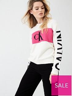 calvin-klein-jeans-statement-logo-jumper-white