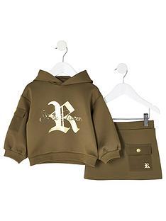 river-island-mini-mini-girls-printed-scuba-hoodie-and-skirt-khaki