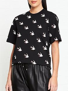 mcq-alexander-mcqueen-swallow-print-t-shirt-black