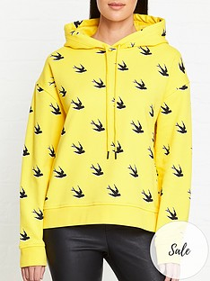 mcq-alexander-mcqueen-swallow-print-hoodie-yellow