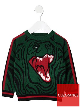 river-island-mini-dinosaur-intarsia-knit-jumper-green