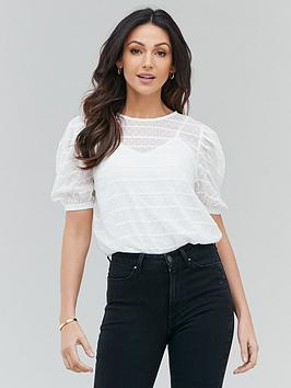 michelle-keegan-lace-trim-puff-sleeve-tee-ivory