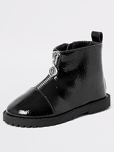river-island-mini-mini-girls-zip-front-boots-black