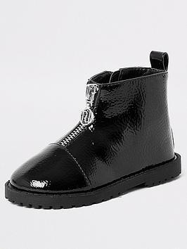 river-island-mini-mini-girls-zip-front-boots-black