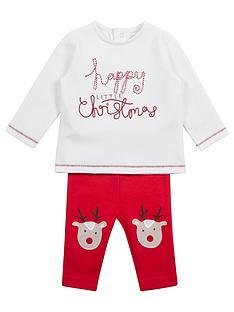 mamas-papas-christmas-unisex-2-piece-reindeer-set