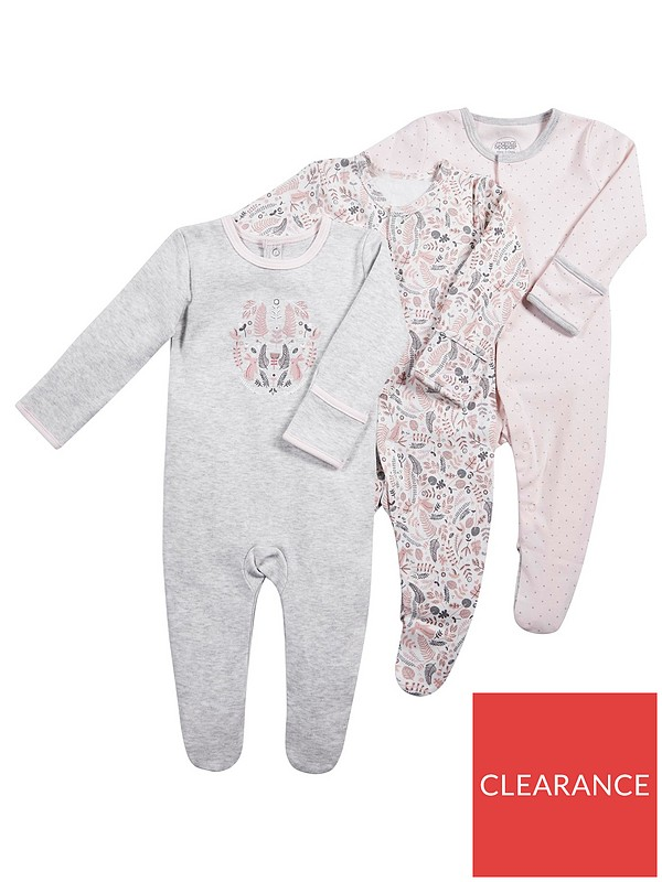 Pack of 3 Mamas /& Papas Baby Girls Socks