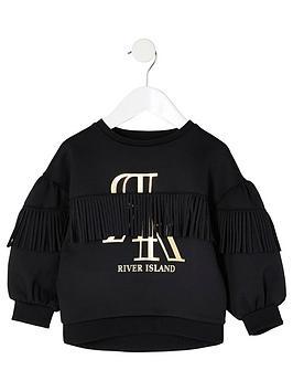river-island-mini-mini-girls-fringe-scuba-sweatshirt-black