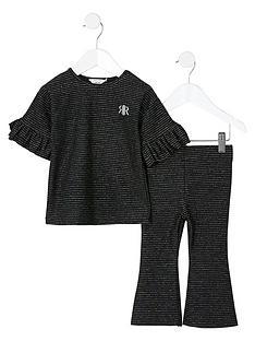 river-island-mini-mini-girls-stripe-flare-co-ord-set-black
