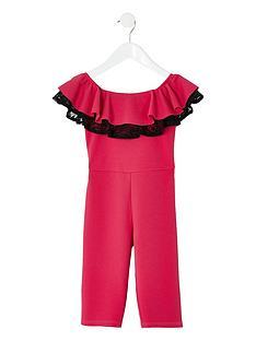 river-island-mini-mini-girls-bardot-lace-jumpsuit-pink