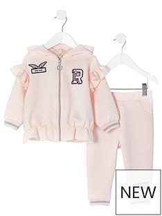 river-island-mini-mini-girls-badge-zip-hoodie-and-jog-pant-set-pink
