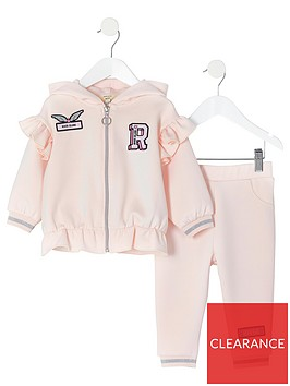 river-island-mini-mini-girls-badge-zip-hoodie-and-jog-pant-set-pink