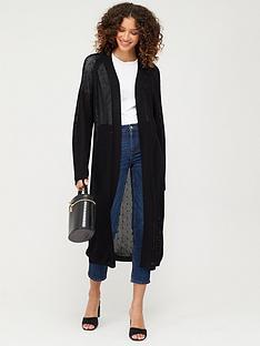 v-by-very-mesh-longline-cardigan-black