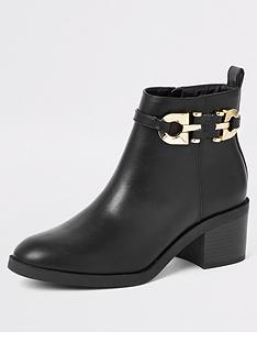 river-island-river-island-wide-fit-pu-side-zip-ankle-boot-black