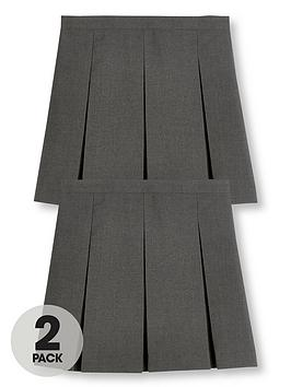 v-by-very-girls-2-pack-classic-pleated-school-skirts-plus-grey