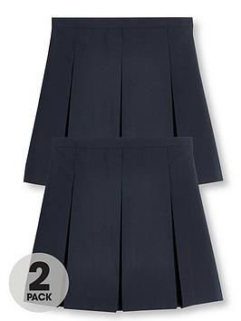 v-by-very-girls-2-pack-classic-pleated-school-skirts-plus-navy