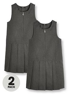 v-by-very-girls-2-pack-pleat-school-pinafore-grey