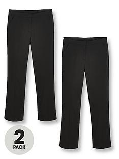 v-by-very-girls-2-pack-woven-school-trouser-plus-black