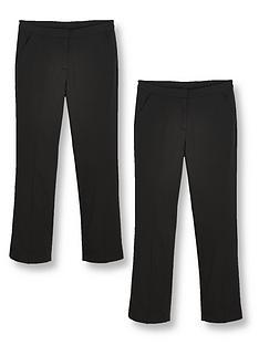 v-by-very-girls-2-pack-woven-school-trouser-plus-sizenbsp--black