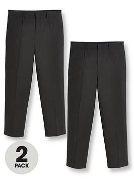 v-by-very-boys-2-pack-classic-woven-plus-sizenbspschool-trousers-black