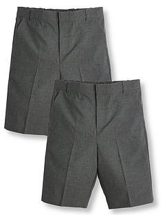 v-by-very-boys-2-pack-school-teflon-shorts-grey