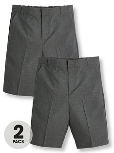 v-by-very-boys-2-pack-schoolnbspshorts-grey